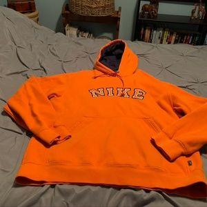 NIKE Men's Orange Hoodie. Size Large